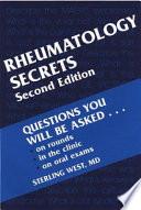 Rheumatology Secrets Book PDF