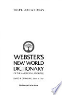 Webster's New World Dictionary of the American Language