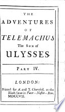 The Adventures of Telemachus the Son of Ulysses  by F  de Salignac de la Mothe F  nelon      The Sixth Edition