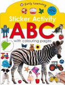 Sticker Activity Animals with Colouring Pages Book