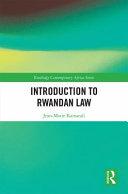 Introduction to Rwandan Law