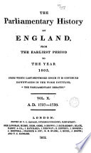 Cobbett's Parliamentary History of England: 1737-1739 Pdf/ePub eBook