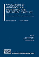 Applications of Mathematics in Engineering and Economics