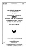 Concurrent Resolution on the Budget FY 2007
