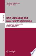 Dna Computing And Molecular Programming Book PDF