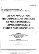 Design, Application, Performance and Emissions of Modern Internal Combustion Engine Systems and Components