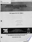Prepare a Single-page, Single-address Military Letter