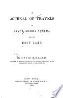 A Journal Of Travels In Egypt Arabia Petr And The Holy Land