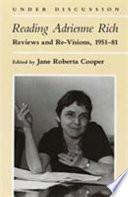 Reading Adrienne Rich