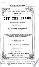 Off the Stage Book