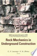 Rock Mechanics in Underground Construction Book