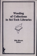Weeding of Collections in Sci-tech Libraries