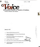 Voice Of The Federal Reserve Bank Of Dallas Book PDF