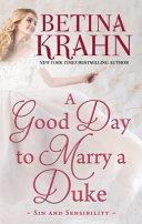 A Good Day to Marry a Duke Pdf/ePub eBook