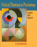 Critical Thinking in Psychology Book PDF