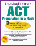 ACT Preparation in a Flash Book