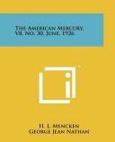 The American Mercury V8 No 30 June 1926