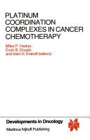 Platinum Coordination Complexes in Cancer Chemotherapy Pdf/ePub eBook