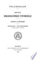 Polybiblion Pdf/ePub eBook
