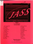 Journal Of Applied Statistical Science Book PDF