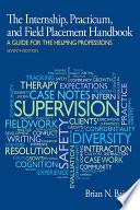 Internship  Practicum  and Field Placement Handbook Book