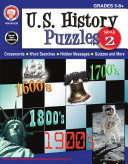 U S  History Puzzles  Book 2  Grades 5   8