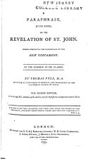 A Paraphrase, with Notes, on the Revelation of St. John