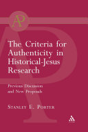 Criteria for Authenticity in Historical Jesus Research