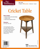 Fine Woodworking s Cricket Table Plan