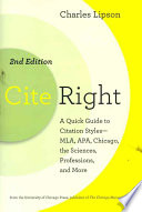 Cite Right  Second Edition