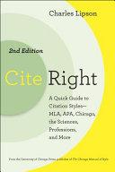 Cite Right, Second Edition