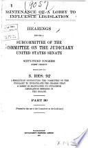 Maintenance of a Lobby to Influence Legislation