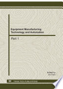 Equipment Manufacturing Technology And Automation Book PDF