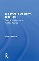 Pdf The People Of Quito, 1690-1810 Telecharger