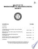 Bulletin of the Massachusetts Archaeological Society