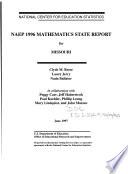 NAEP 1996 Mathematics State Report for Missouri