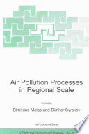 Air Pollution Processes In Regional Scale Book PDF