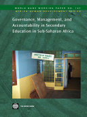 Pdf Governance, Management, and Accountability in Secondary Education in Sub-Saharan Africa