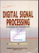 Krishna s Digital Signal Processing   Principles and Applications