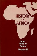 History of Africa  From 1945 to present Book