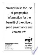 The agi source book for geographic information systems