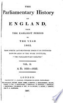 The Parliamentary History of England, from the Earliest Period to the Year 1803 Pdf/ePub eBook