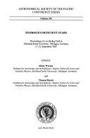 Hydrogen deficient Stars