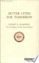 Better Cities for Tomorrow