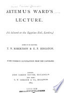 Artemus Ward's Lecture [on the Mormons]