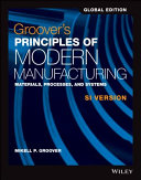 Groover s Principles of Modern Manufacturing Book