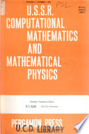 U.S.S.R. Computational Mathematics and Mathematical Physics