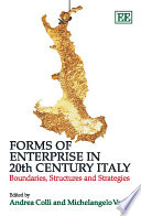 Forms of Enterprise in 20th Century Italy