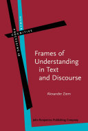 Pdf Frames of Understanding in Text and Discourse Telecharger