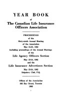 Year Book of the Canadian Life Insurance Officers Association